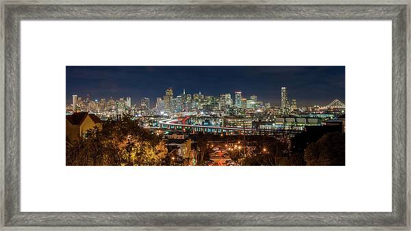 The Breath Taking View Of San Francisco Framed Print