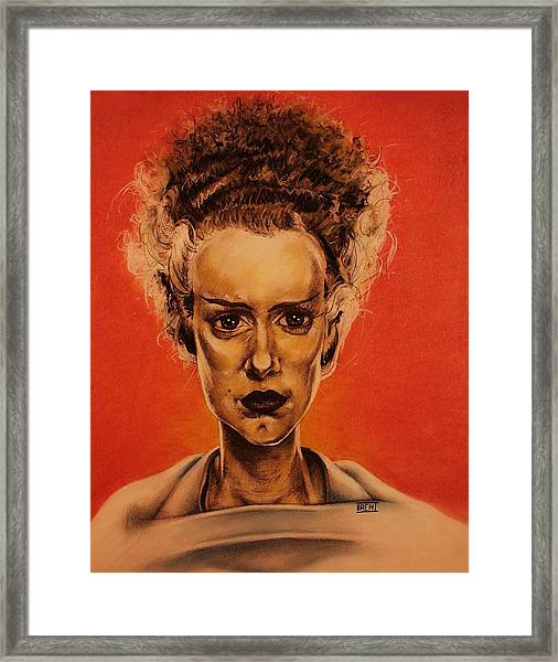 The Bride Of Frankenstein Framed Print