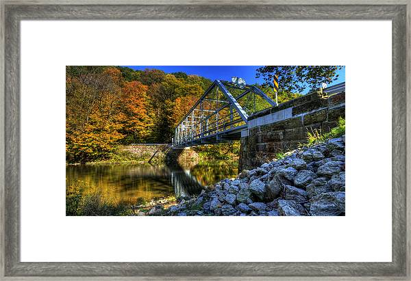 The Bridge Over Beaver Creek Framed Print