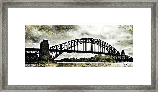 The Bridge Spattled Framed Print