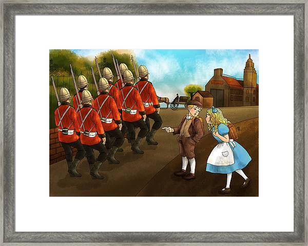 The British Soldiers Framed Print