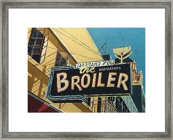 The Broiler On J Street Framed Print by Paul Guyer