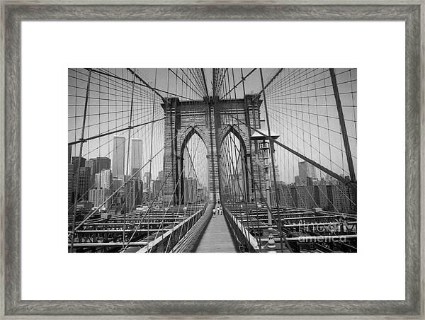 The Brooklyn Bridge Before Nine Eleven Framed Print