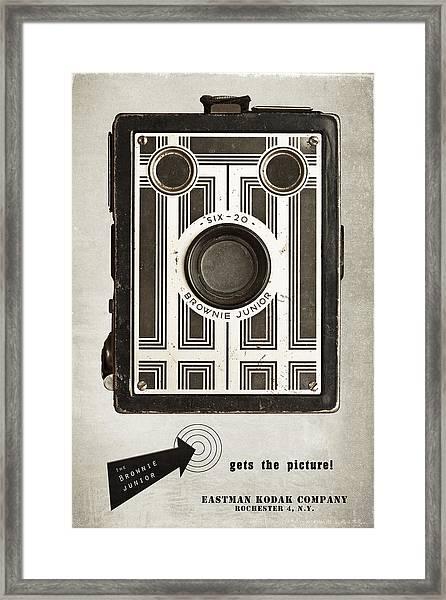 The Brownie Junior Six-20 Camera Framed Print