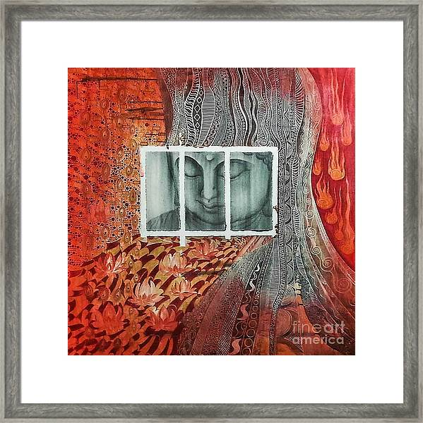 The Buddhist Color Framed Print