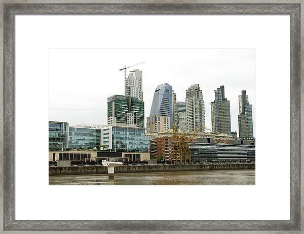The Buenos Aires Central Business District Framed Print by Jens Kuhfs