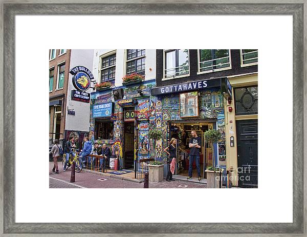 The Bulldog Coffee Shop - Amsterdam Framed Print
