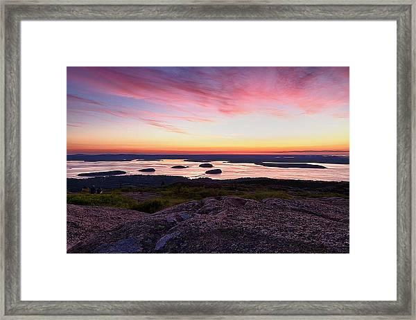 The Cadillac Mountain Sunrise Club Framed Print