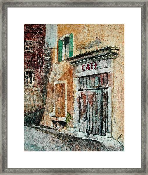 The Cafe Is Closed Framed Print