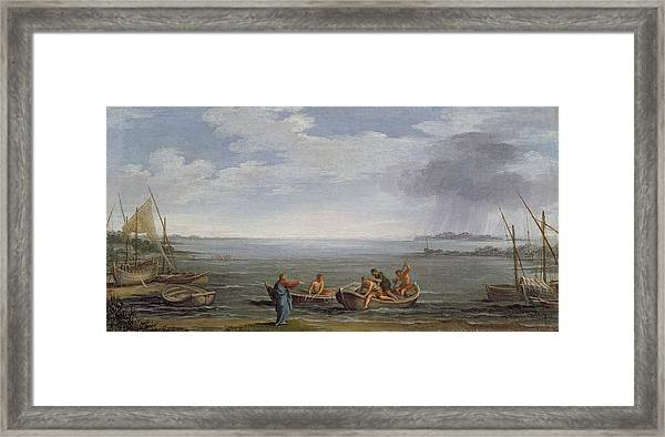The Calling Of St. Peter And St Framed Print