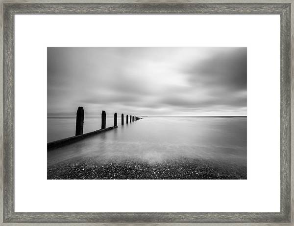The Calm Sea. Framed Print