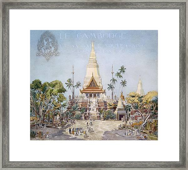 The Cambodian Pavilion, Paris Expo Framed Print