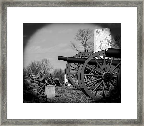The Cannons Of Gettysburg Framed Print