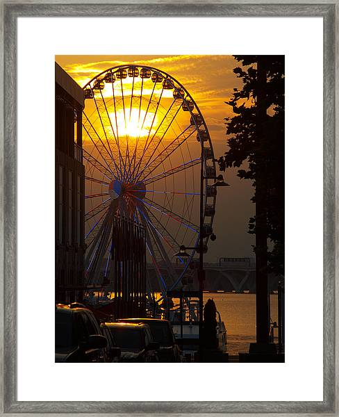 The Capital Wheel Framed Print