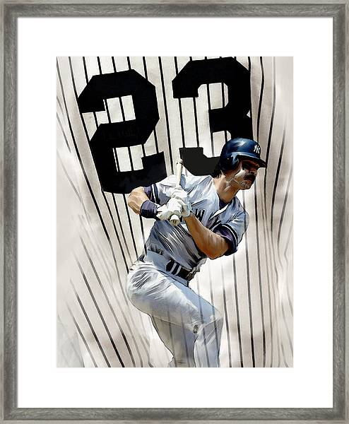 The Captain Donnie Baseball Don Mattingly Framed Print