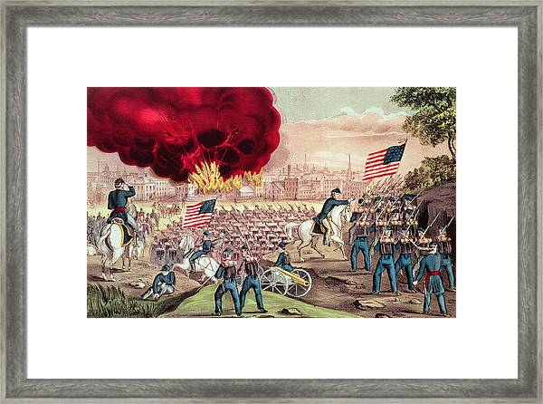 The Capture Of Atlanta By The Union Army Framed Print