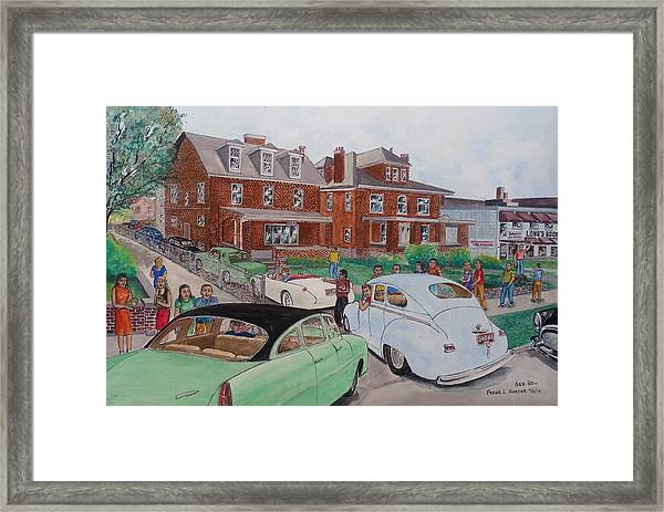 The Car Movers Of Phi Sigma Kappa Osu 43 E. 15th Ave Framed Print