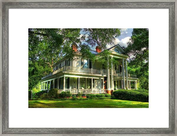 A Southern Bell The Carlton Home Art Southern Antebellum Art Framed Print