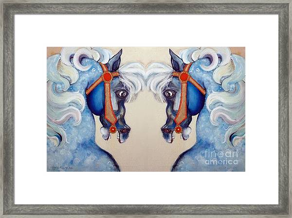 The Carousel Twins Framed Print