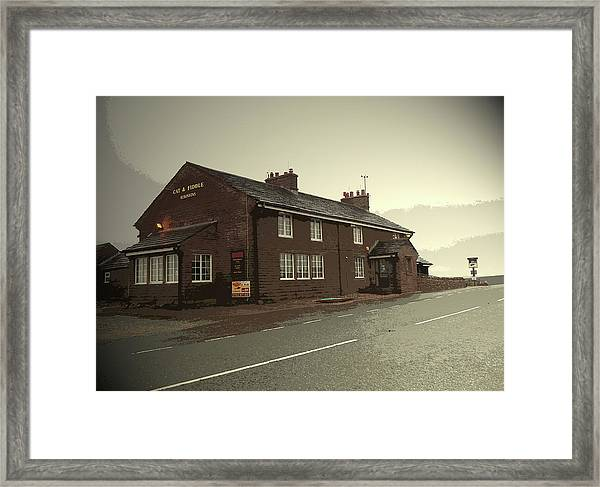 The Cat And Fiddle Public House, Pictured Here Framed Print by Litz Collection