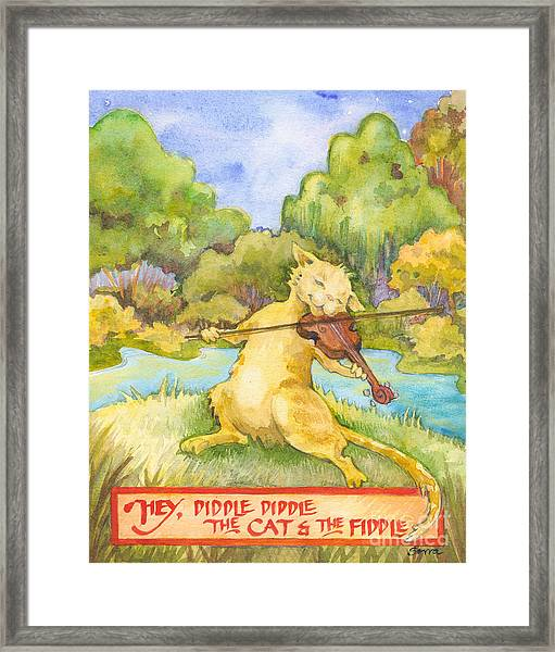 The Cat And The Fiddle Framed Print