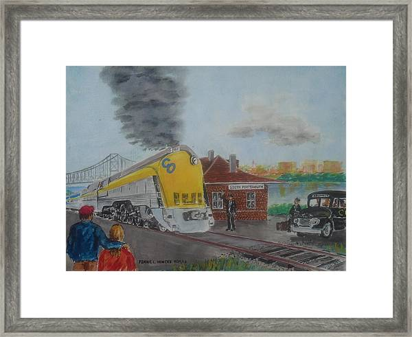 The Chesapeake And Ohio George Washington At South Portsmouth Station Framed Print