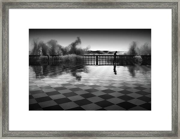 The Chessplayer Framed Print by Paolo Lazzarotti