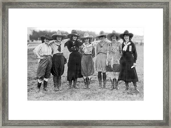 The Cheyenne Rodeo Roundup Cowgirls Framed Print