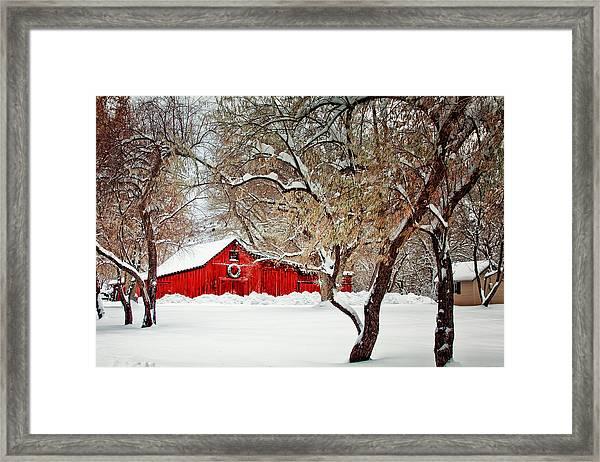 The Christmas Barn Framed Print