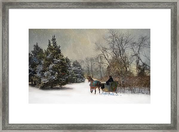 The Christmas Sleigh Framed Print