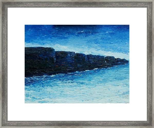The Cliffs Framed Print by Conor Murphy