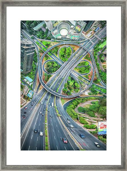 The Clover Interchange (semanggi) Framed Print