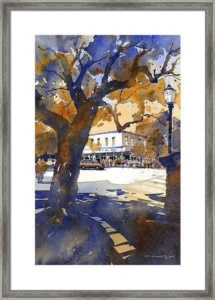 The College Street Oak Framed Print by Iain Stewart