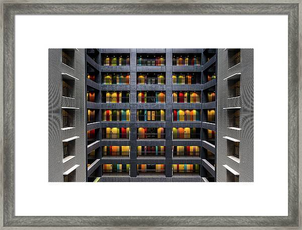 The Colored Doors Framed Print