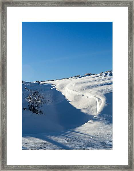 The Colors Of Snow Framed Print