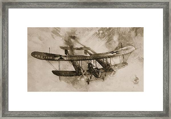 German Biplane From The First World War Framed Print