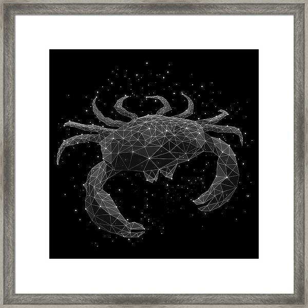 The Constellation Of Cancer Framed Print