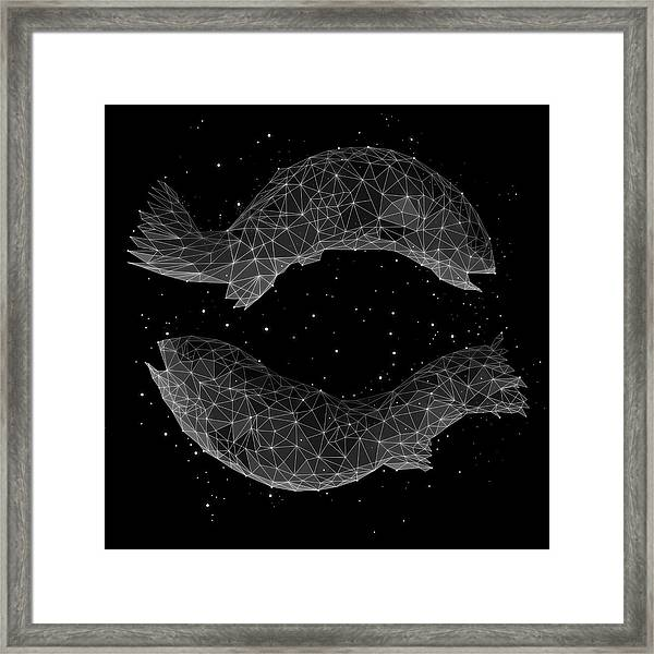 The Constellation Of Pisces Framed Print