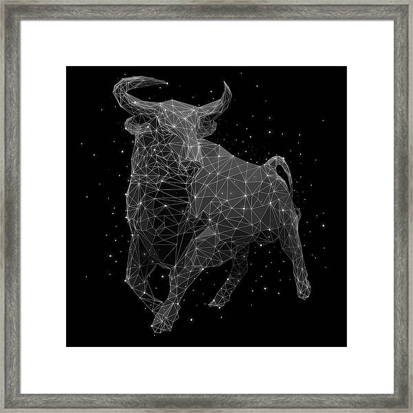 The Constellation Of Taurus Framed Print
