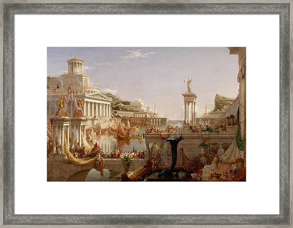 The Course Of Empire Consummation  Framed Print