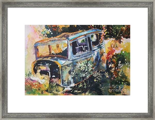 The Courting Car Framed Print