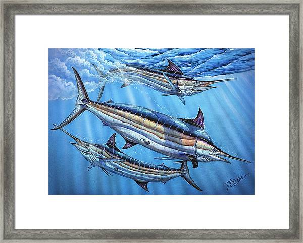 The Courtship Framed Print