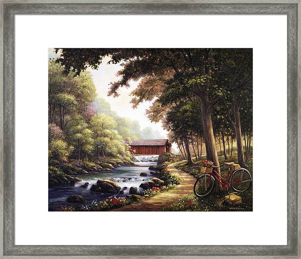 The Covered Bridge Framed Print