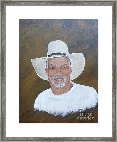 The Cowboy And His Hat Framed Print
