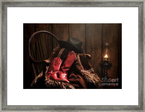 The Cowgirl Rest Framed Print