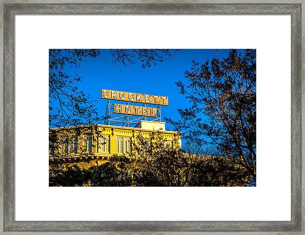 The Crockett Hotel Framed Print