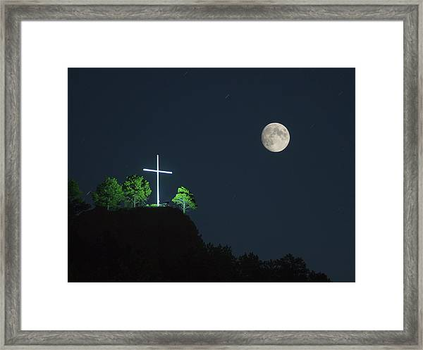 The Cross And The Moon Framed Print