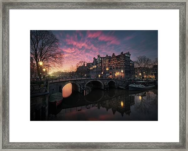 The Cross Framed Print by Juan Pablo De