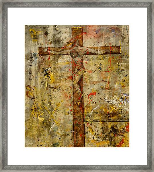 the Crucifying of the Sacred Feminine  Framed Print
