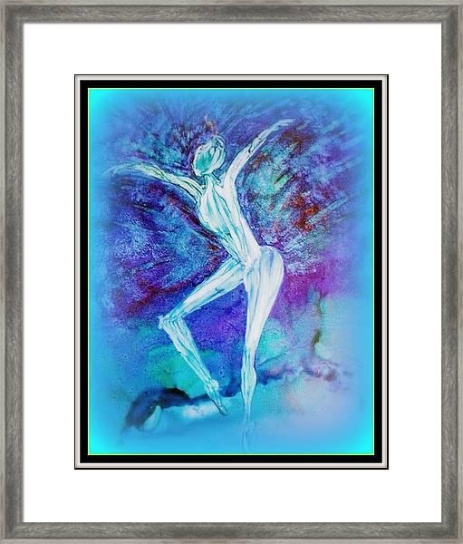 The Dance In Blue Framed Print